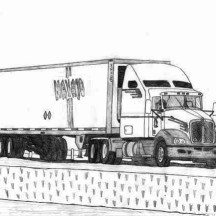 18 Wheeler Semi Truck Coloring Page