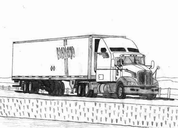 eighteen wheeler coloring pages - photo#32