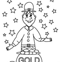 A Cheerful St Patricks Day Coloring Page