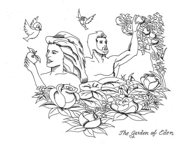 coloring pages garden of eden - photo#25