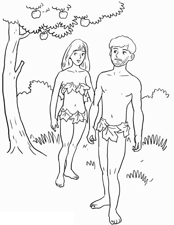 Adam And Eve Was Forbid To Eat Fruit From Tree Of Knowledge In Garden Eden