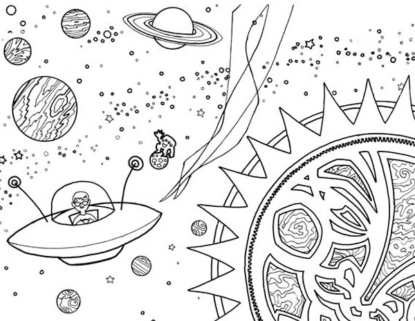 Alien Coloring Pages Impressive Alien Spaceship Coloring Page  Netart Decorating Inspiration