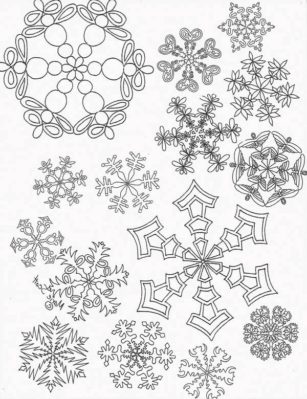 All Snowflakes Picture Coloring Page - NetArt