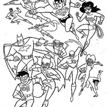 All Super Heroes in Super Hero Squad Coloring Page