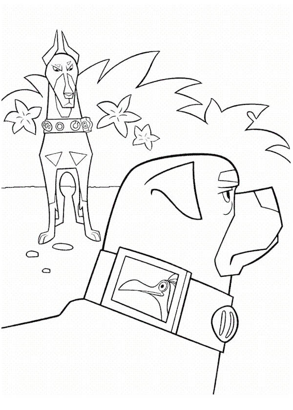 Alpha and Beta in Disney Up Coloring Page - NetArt