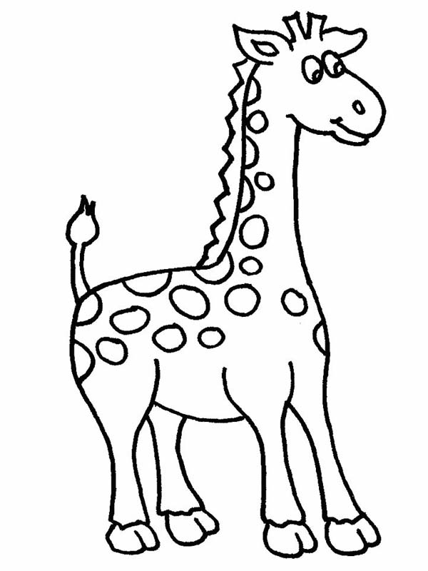 amazing african giraffe coloring page - Giraffes Coloring Pages