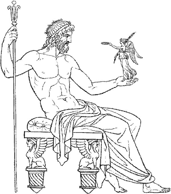 Amazing Drawing Greek Gods and Goddesses Coloring Page  NetArt