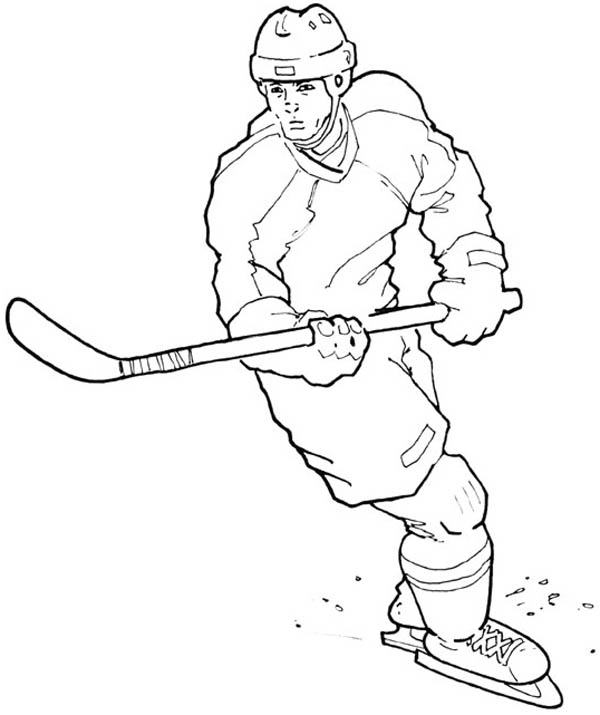 amazing hockey player coloring page netart NHL Team Logo Coloring Pages  Coloring Pages Hockey Players Nhl