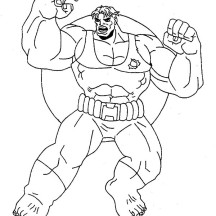 Amazing Power of Hulk Coloring Page
