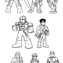 Super hero squad netart for Super hero squad coloring page