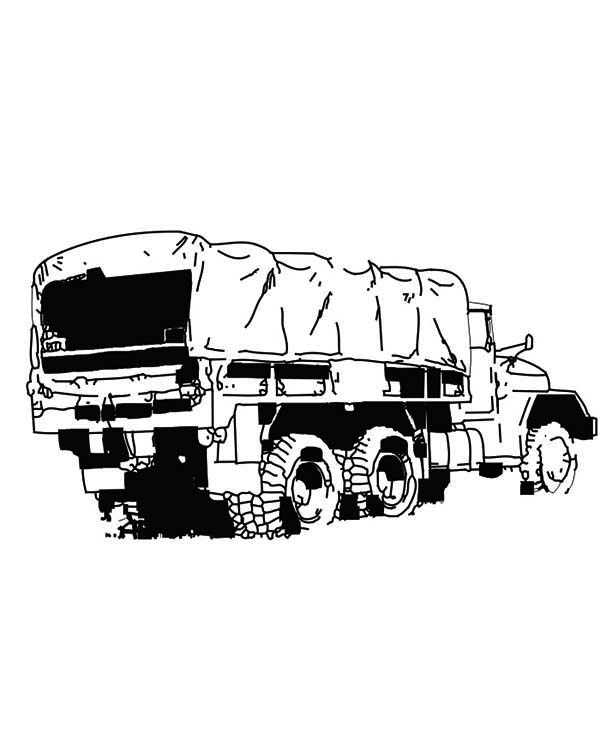 an army semi truck coloring page. Black Bedroom Furniture Sets. Home Design Ideas