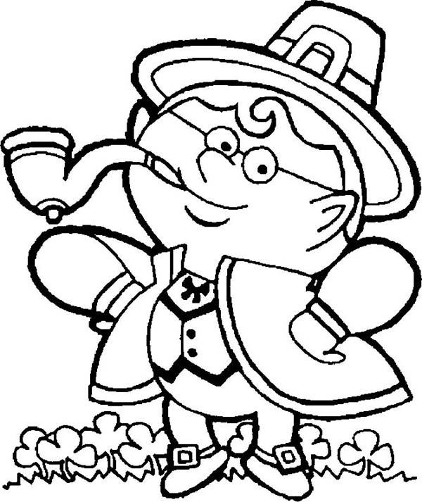 An Irish Guy in Traditional Costume Celebrating St Patricks Day ...