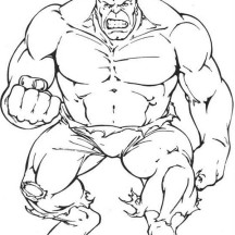 Anger is Hulk Secret Coloring Page