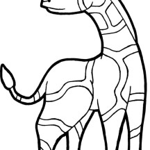 Angry Giraffe Coloring Page