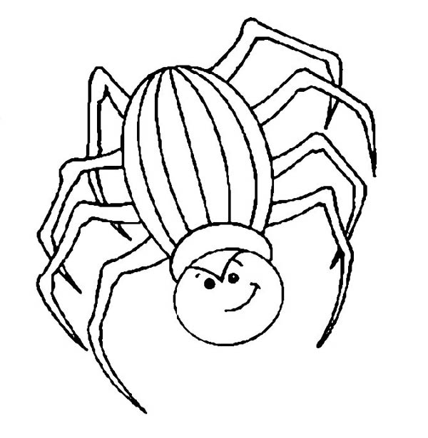 angry spider coloring page
