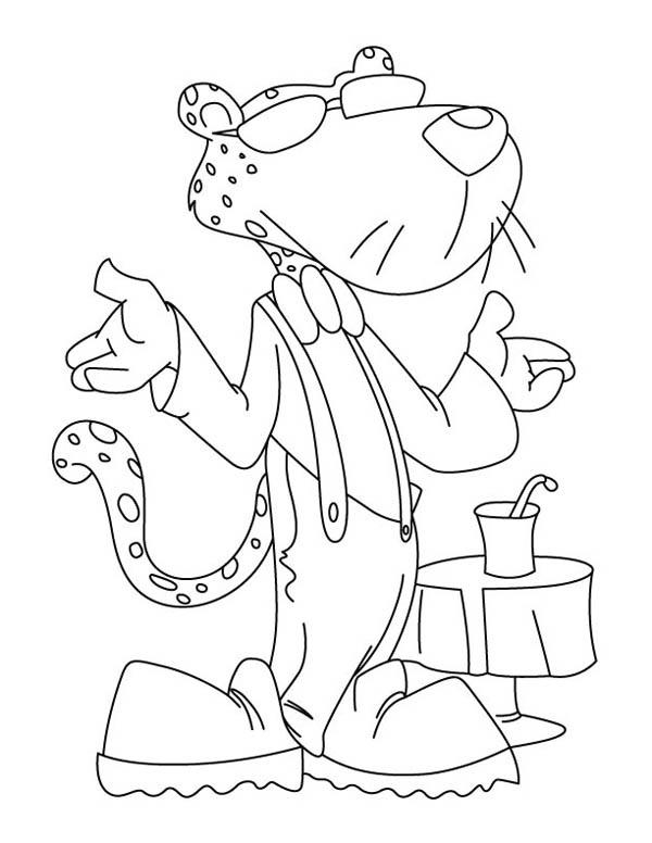 Awesome Chester the Cheetah Coloring Page NetArt