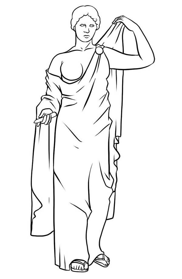 Awesome Drawing Greek Gods And Goddesses Coloring Page