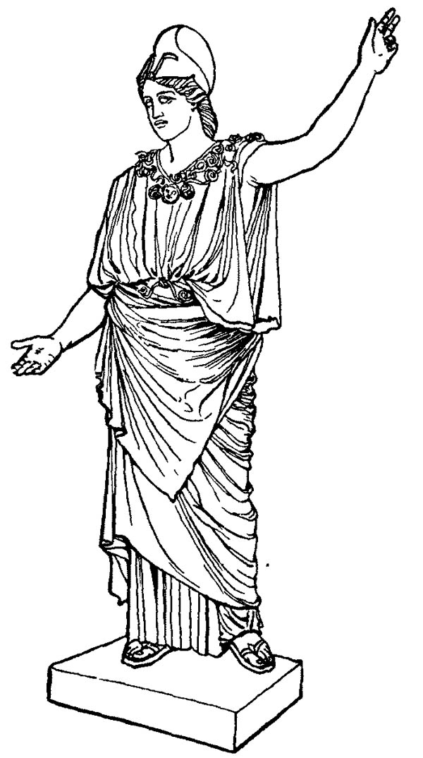 greek gods pictures printable coloring pages | Awesome Greek Gods and Goddesses Coloring Page - NetArt