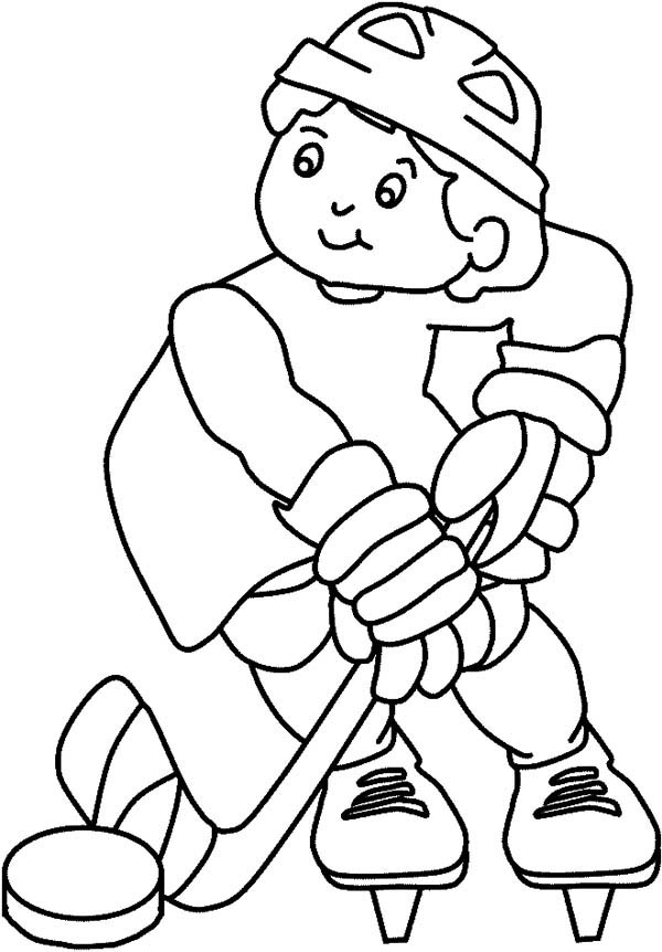 awesome hockey player coloring page - Coloring Pages Hockey Players Nhl