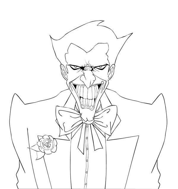 Awesome Joker Coloring Page NetArt