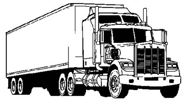 Awesome Semi Truck Coloring Page