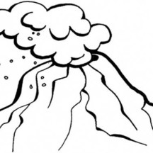 Awesome Volcano Eruption Coloring Page