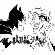 Batman vs Joker Coloring Page