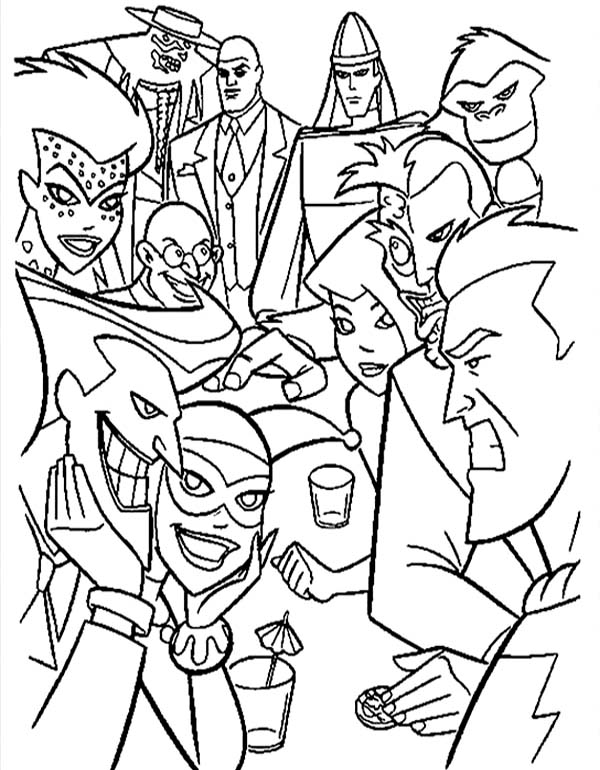 Super Hero Squad Batman vs Villains in Super Hero Squad Coloring ...