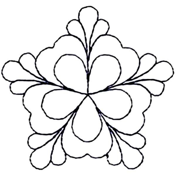 Beautiful Four-Leaf Clover Coloring Page