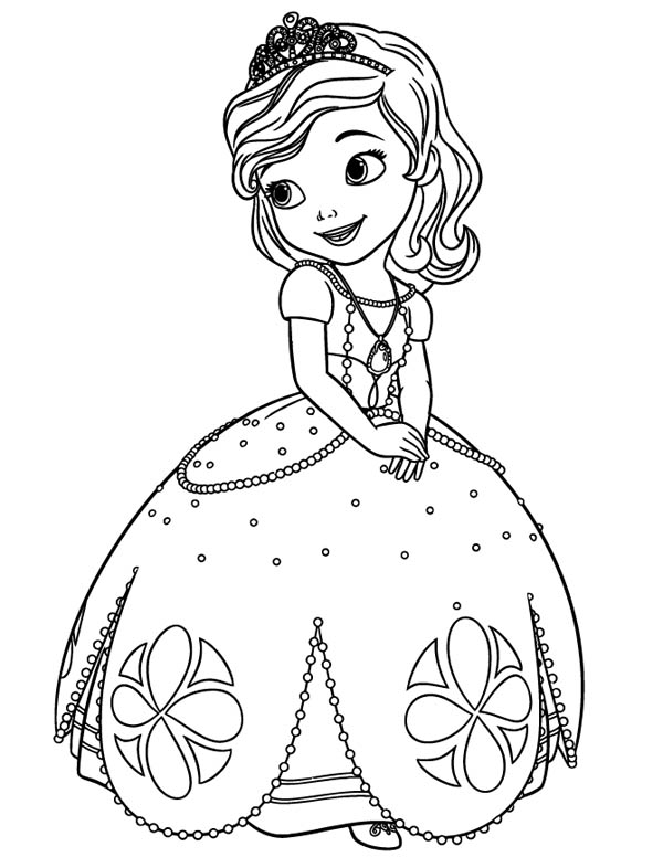 Beautiful Princess Sofia the First Coloring Page NetArt