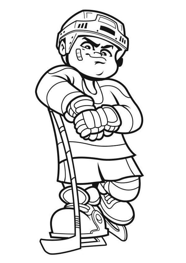 Best hockey player coloring page netart for Hockey coloring pages printable