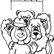 Cartoon of Daniel and the Lions Den Coloring Page