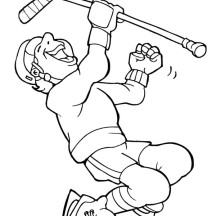 Celebrating Goal in Hockey Coloring Page