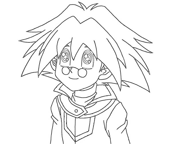 Character in Yu Gi Oh Coloring Page