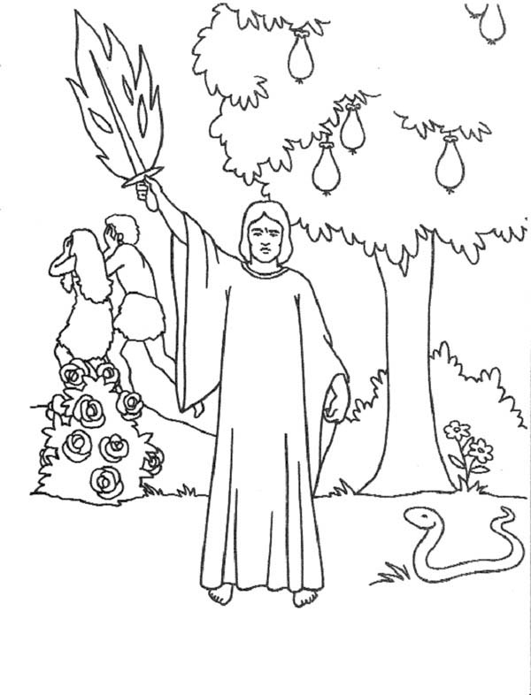 Eden free coloring pages for Garden of eden coloring page