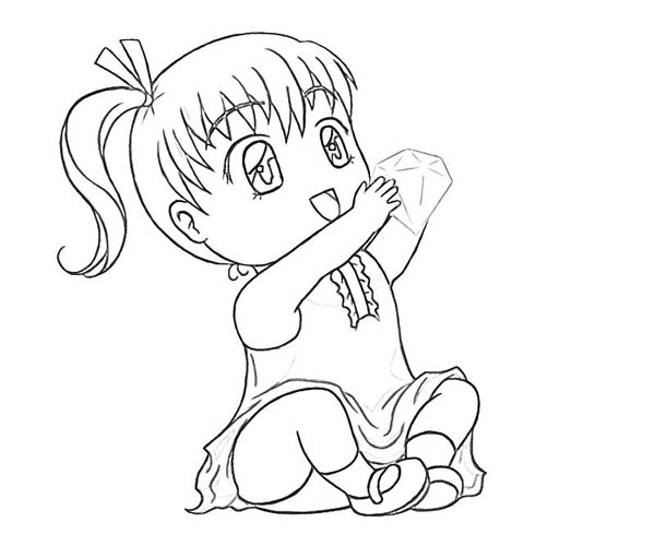 The gallery for girl camping coloring pages for Big girl coloring pages