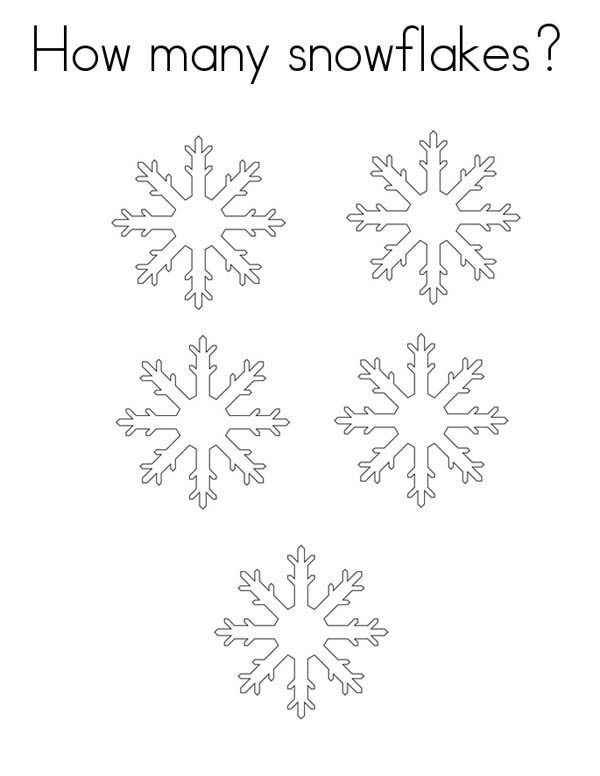Counting Snowflakes Coloring Page