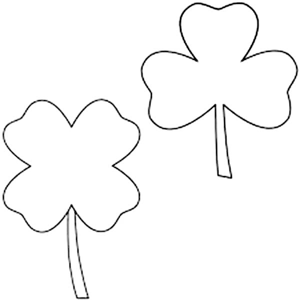 clover leaf coloring page - canada goose picture 4 leaf clover