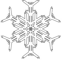 Creating Snowflakes Picture Coloring Page