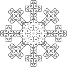 Crucify Snowflakes Coloring Page