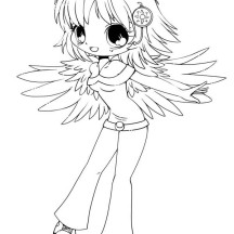 Cute Delilah Chibi Drawing Coloring Page