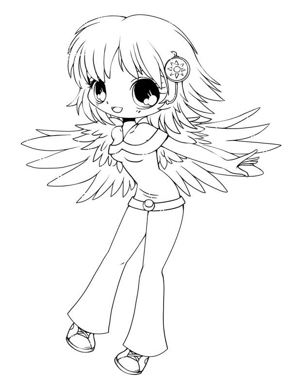 Cute Delilah Chibi Drawing Coloring Page NetArt