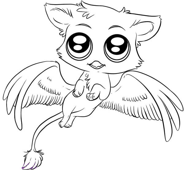cute gryphon chibi drawing coloring page - Hatsune Miku Chibi Coloring Pages