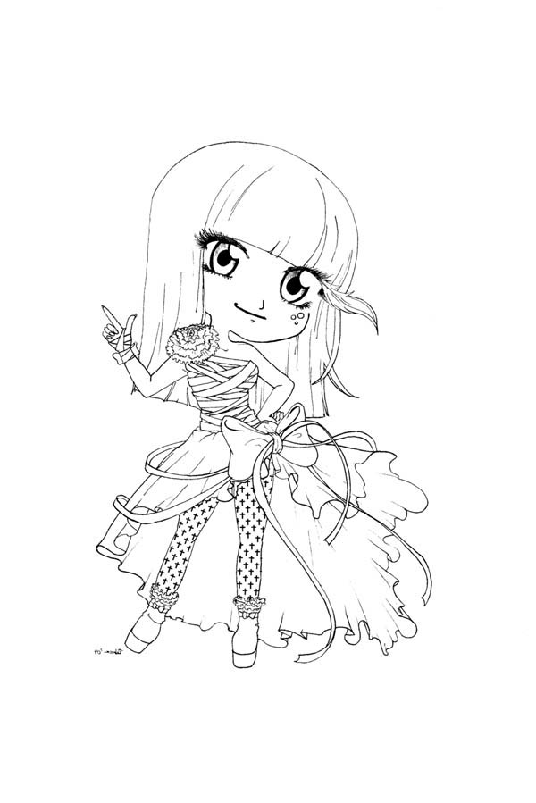 chibi mermaid and friends coloring page netart anime characters netart part 21 - Friends Anime Coloring Pages