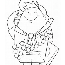 Russell from up coloring pages ~ Up | NetArt