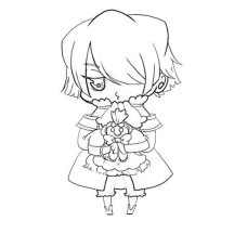Cute Verxes Break Chibi Picture Coloring Page