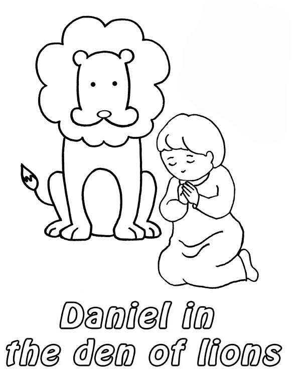 Angel Lions Daniel Colouring Pages Page 2