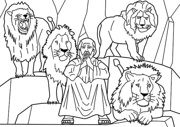 Free Coloring Pages Of Daniel In The Lions Den