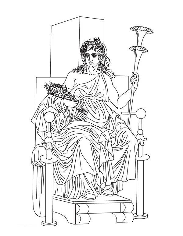Artemis coloring step by step coloring pages for Coloring pages of greek gods