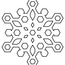 Diamond Snowflakes Coloring Page